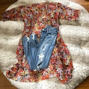 LulaRue Floral Duster perfect fall colors